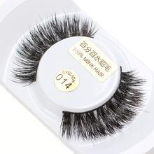 1 Pair Handmade Mink Lashes 3D Mink Eyelashes 100% Cruelty free Natural Thick False Fake Eyelashes Eye Lashes Makeup Extension недорого