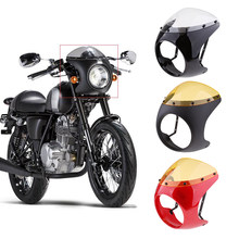 16-18cm Motorcycle Headlight Fairing Round Retro Cafe Motorbike Head light Mask Front Cowl Fork Mount For Retro Cafe Racer(China)