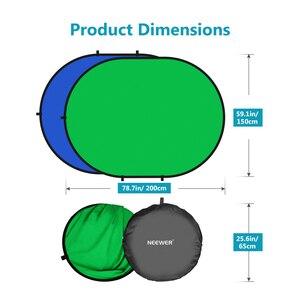 Image 5 - Neewer 2 в 1 зеленый хромакей фотографии с оформлением в виде синий складной фон складной двусторонний фон 5x7 футов/1,5x2 м \