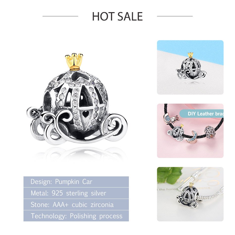 DIY Silver Charm Fit Original Pandora Bracelet Bead 925 Sterling Silver Love Dangle Charm Crystal Heart