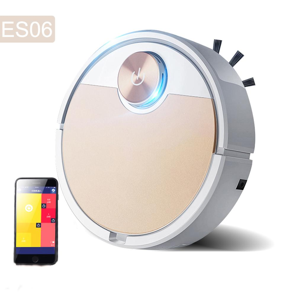 ES06 Robot Vacuum Cleaner Smart vaccum cleaner fpr Home Mobile Phone APP Remote Control Automatic Dust Removal cleaning Sweeper 1