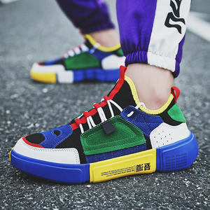 Image 5 - COOLVFATBO Trendy Sneakers Casual Shoes Men Brand Sneakers Men Breathable Mans Footwear Mixed Colors Men Shoes Walking Male Flat