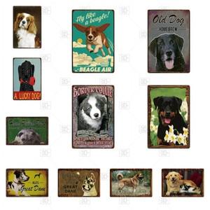 Металлическая табличка для собак, винтажная жестяная вывеска, потертый декор, металлический знак, винтажное украшение для бара, металличес...