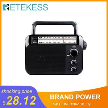 Retekess TR604 FM/AM 2 Band Portable Radio AC Powered rechargeable Receiver with 3.5mm Earphone Jack for the elderly цена 2017