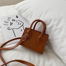 Couleur unie en cuir PU sacs à bandoulière pour femmes 2020 été dame épaule sacs à main femme Simple Totes