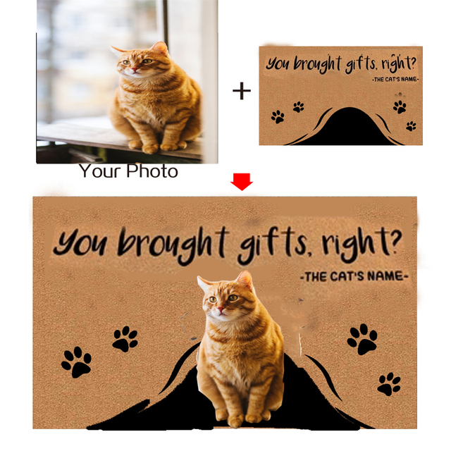 Kustom Pribadi Kucing Keset Teks Nama Hewan Peliharaan Foto Kucing Lucu Kucing Mengintip Keluar Gambar Kucing Pecinta Keset Dekorasi Rumah En Matras Keset Aliexpress