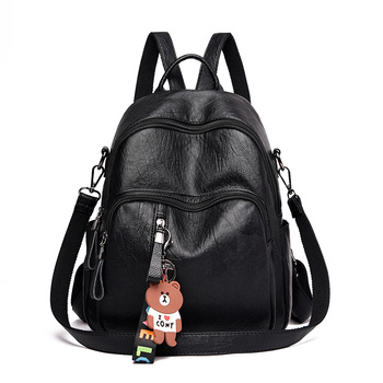 Kunzite Women Backpack high quality Leather Fashion school Backpacks Female Feminine Casual Large Capacity Vintage Shoulder Bags