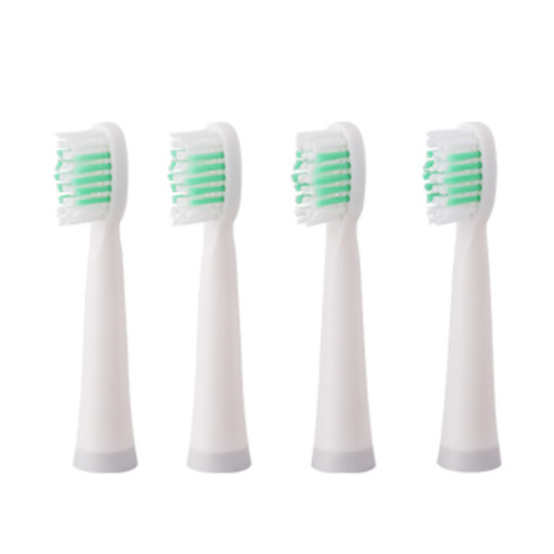 Top Deals 4Pcs Replacement Brush Heads for Automatic Electric Sonic Toothbrush Deep Cleaning Tooth Brush Heads White image