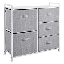 Fabric 5-Drawer Storage Organiser Unit for Closets.