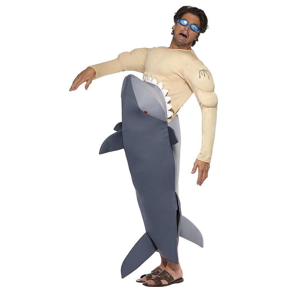 Snailify костюм для Хэллоуина мужские костюмы Взрослый Костюм акулы крови Акула комбинезон косплей