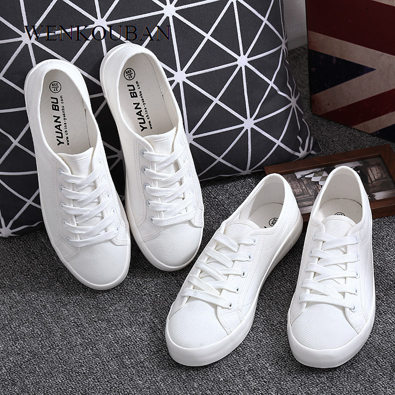 Summer White Canvas Shoes Women Sneakers Classic Flats Shoes Casual Ladies Trainers Fashion Basket Femme Zapatillas Mujer 2020