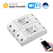 4 /2/1 pces um pacote interruptor wi fi relé casa inteligente módulo homekit 2.4ghz 110v 220v universal disjuntor casa inteligente para lâmpada led