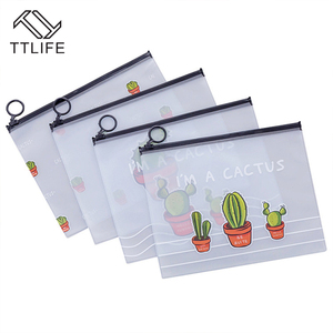 Image 2 - VOGVIGO Waterproof PVC Cactus Transparent Drawstring Bags Travel Makeup Case Study Office Stationery Bag Bath Organizer Pouches