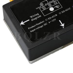 Image 4 - Siyah 6 12VDC XD 622 On/Off dokunmatik anahtarı LED lamba ampulü İzole sensör 20 paket