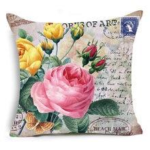 Наволочка на подушку размером 45*45 идиллический цветок 16 видов