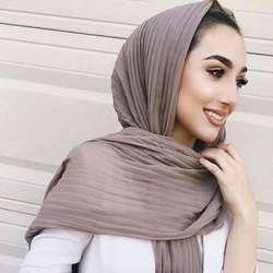 2019 мусульманский для женщин пузырь жатый шифон хиджаб шарф платки femme мусульманский шали исламский платок костюмы хиджаб