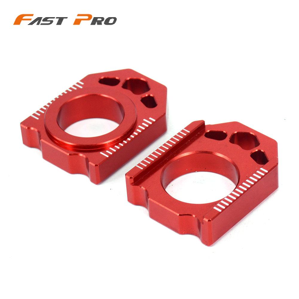Motorcycle CNC Rear Chain Adjuster Axle Block For HONDA CR125R CR250R CRF250R <font><b>CRF250X</b></font> CRF450R CRF450X CRF450RX CR 125R 250R image