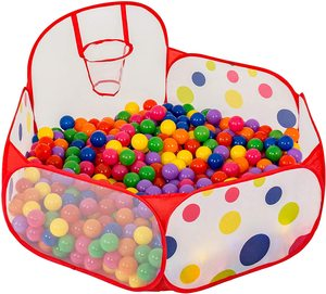 Foldable Ocean Ball Pit Baby Playpen Children Toy Ball Pool with Basket Outdoor Toys Safety Play Tent for Children Ballenbak