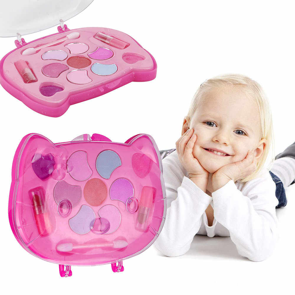 Toys For Children Girl Pretend Play Princess Makeup Palette Set Kids Toy Non-toxic Clear Pretend Play Baby Toys Brinquedos 2019