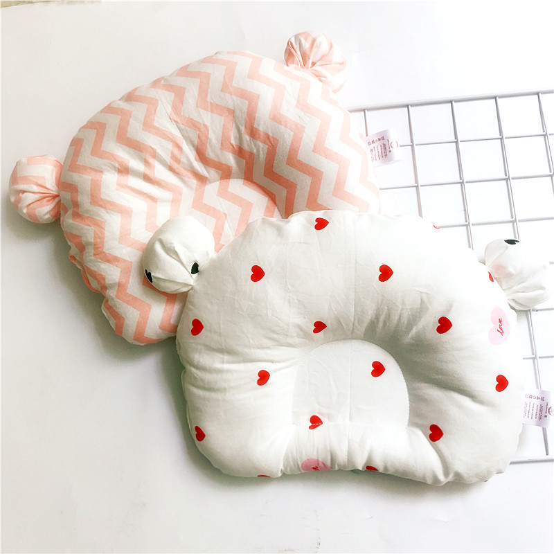 0 1 Years Old Baby Shaping Pillow Breathable Cotton Cute Bear Head Type Correction Pillow Newborn Kids Room Decoration in Pillow from Mother Kids