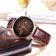 цена на Fashion Male Clock New Trend watches men Business Leather Band watch Quartz Wristwatch Sport reloj hombre relogio masculino