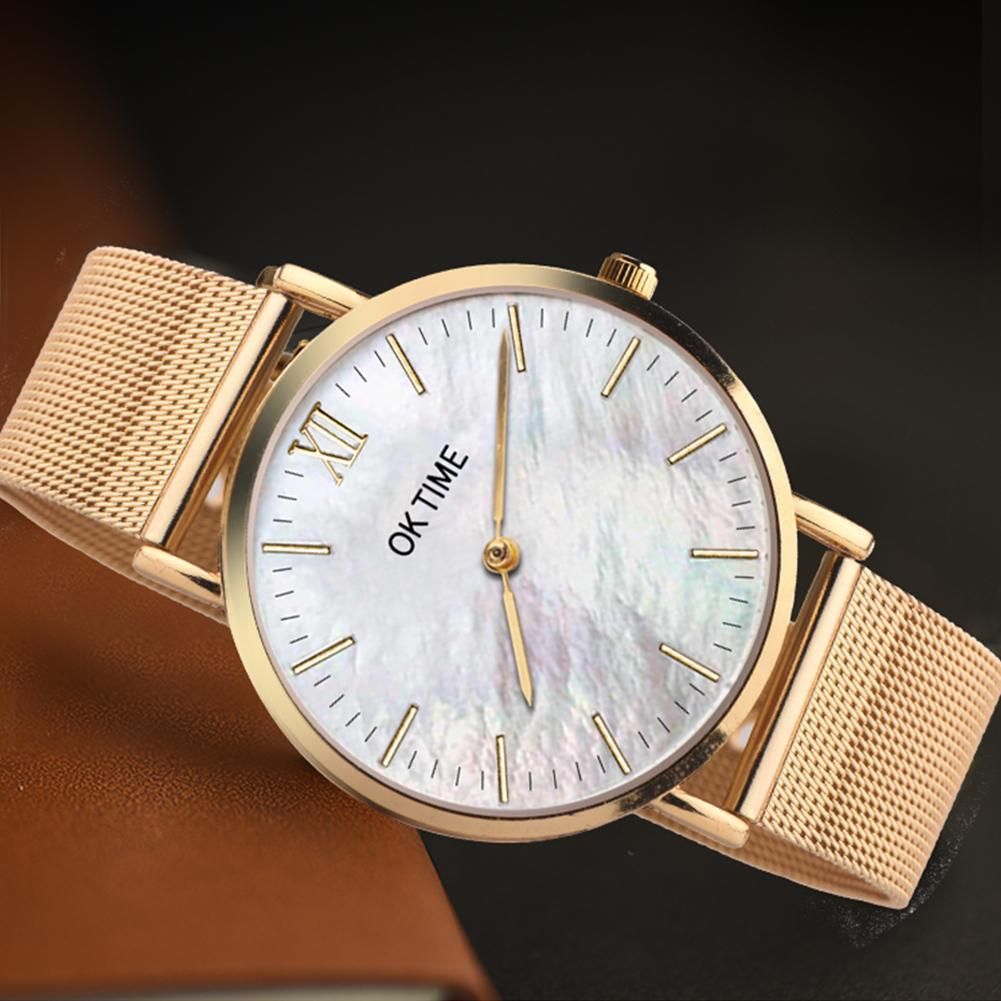 Alloy Band Seashell Color Round Dial Analog Quartz Wrist Watch Unisex Watch Lovers Couple Watch Male Female Пара смотреть 커플 시계