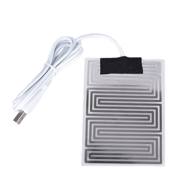 3.7V~5V Carbon Fiber Heating Pad Hand Warmer USB Heating Film Electric Winter Infrared Fever Heat Mat