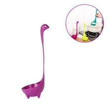 Ложка в форме монстра Loch Ness с длинной ручкой, вертикальная ложка для супа с динозавром, креативная ложка, кухонные принадлежности, предметы домашнего обихода
