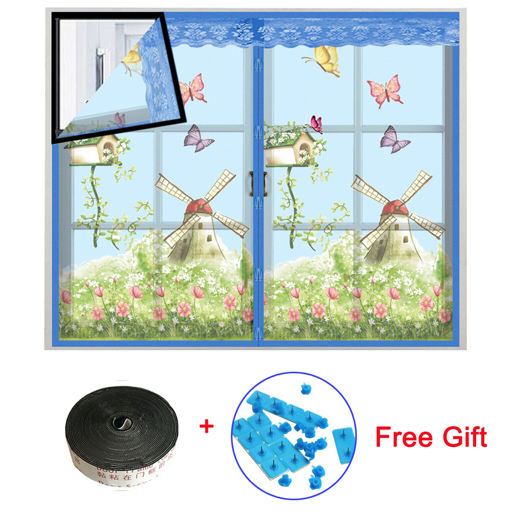 4 Colors Magnetic Curtains Mosquito Net on the Door Window Mesh with Magnets Insect Screen 3