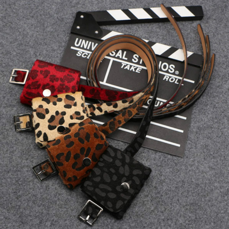 New Fashion Women's Waist Bags Unisex Multifunction Fanny Packs Multi Detachable Belt Bag Men's Waist Packs Leopard Chest Bag
