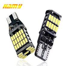 2x luz de sinal do carro t15 w16w lâmpada led t10 w5w 4014 luzes led canbus nenhum erro de alta potência branco dc 12v reverso volta estacionamento lâmpadas