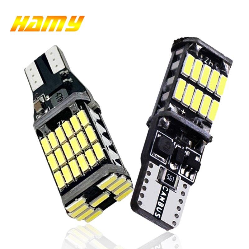 2x luz de sinal do carro t15 w16w lâmpada led t10 w5w 4014 luzes led canbus nenhum erro de alta potência branco dc 12 v reverso volta estacionamento lâmpadas