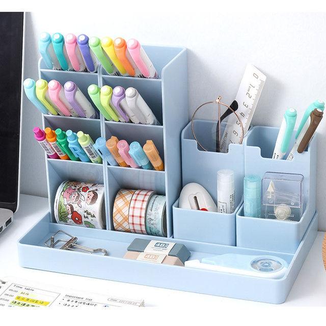Business Accessories & Gadgets Laptop Desk Accessories Desk Organizer And Pen Holder