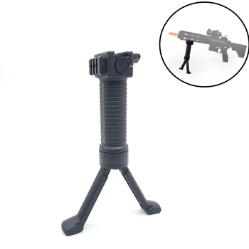 цена на Nylon Plastic Military Tactical Fore Grip Bipod Pod Picattinny Weaver Rail Rifle Foregrip For Paintball Shooting