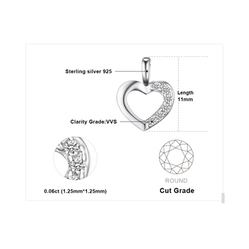Heart Sterling Silver Pendant Necklace 4