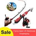 伸縮釣竿コンボとリールフルキット氷釣りスピニングリールロッドポールギアセットとルアーフック魚ツール