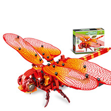Toys For Children Simulation Wasp Red Dragonfly Model Kit Compatible Legoing DIY Assembled Educational Building Blocks Brick O15
