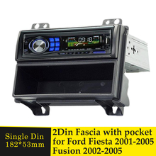 One Din Car Radio Fascia For FORD Fiesta 2001 2005 Fusion 2002 2005 Stereo CD Fitting installation Frame Mount Facia Mount Bezel