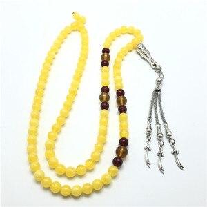 8 мм, мусульманская, религиозная, металлическая подвеска с кисточкой, подвеска, бисер, браслет, четки, ожерелье, Арабская мода, украшения