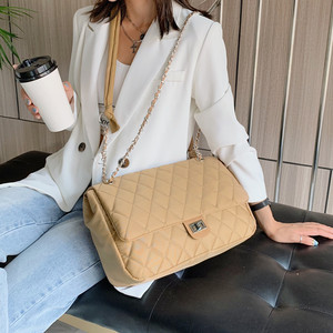2020 Diamond Pattern Women Plaid Shoulder bags portable Nylon Female Handbags Designer Classic Lattice Large lady Messenger Bags