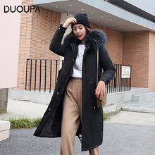 DUOUPA 2019 Winter Down Jacket Cotton Jacket Coat Female Long Section Slim Thick Cotton Coat to Overcome Fashion Keep warm Coat hcbless womens parka cotton coat long section over the knee thick warm slim slim down cotton women s large size winter coat