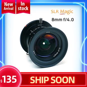 Obiektyw SLR Magic 8mm f 4 0 do mikro czterech trzecich aparatów M4 3 Panasonic Olympus vs 7artisans obiektyw aparatu tanie i dobre opinie FORZAGO CN (pochodzenie) Obiektyw szerokokątny Stałej ogniskowej obiektywu 2014 52mm Kamery 46mm F4-F16 8mmF4 m4 3
