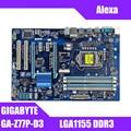 Motherboard PC Gigabyte GA Z77P D3 LGA 1155 DDR3 Z77P D3 boards HDMI USB2.0 USB3.0 32GB Z77 verwendet desktop motherboard boards-in Motherboards aus Computer und Büro bei