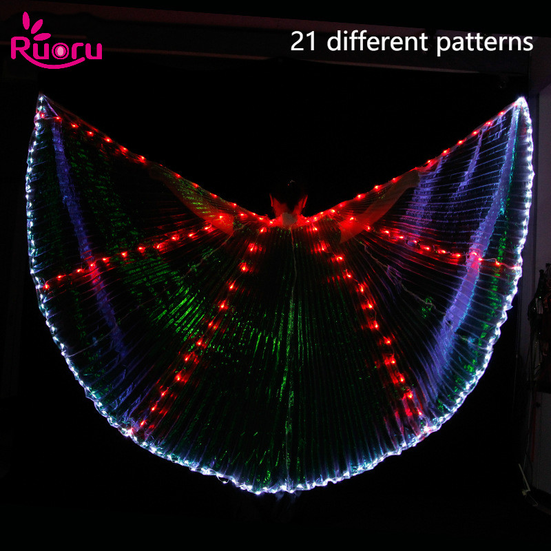 Adult size Festival Multicolor 360 Degree Pleated Isis Wings Rainbow fnt