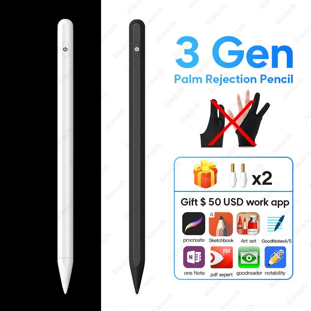 Lápiz Stylus Smart Pen de rechazo de palma para Apple iPad Pro 11 12,9 2020 lápiz táctil activo Stylus para iPad Air 3 2019 10,2 mini 5