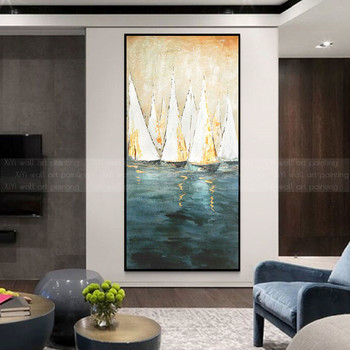 Gold abstract canvas painting acrylic wall art pictures for living room home hallway decor original texture quadros caudro decor