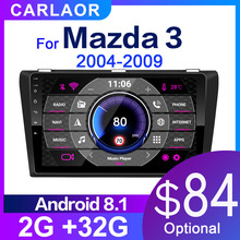 Radio Multimedia con gps para coche, Radio con reproductor, Android 8,1, 2G + 32G, Wifi, estéreo para coche, navegación gps, dvd, para coche Mazda 3 2003 2012
