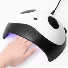 цены 36W UV LED Lamp Gel Nail Polish Curing Cute Panda Shap Nail Dryer Manicure Pedicure Machine With Sensor USB Charge Nail Art Tool