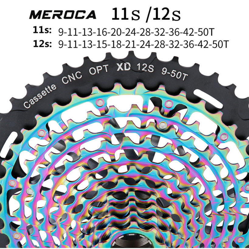 MEROCA Mountain Bike ultra Light Strand Empty CNC Integrated Flywheel 11/12 Speed XD Free hub body 9 50T Freewheel|Bicycle Freewheel| |  - title=