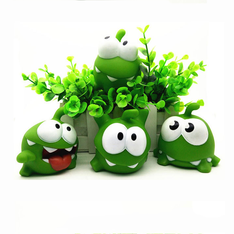 1Pcs Rope Frog Vinyl Rubber Doll Cut The Rope OM NOM Candy Gulping Amyum Toy Figure Vocal Toys Baby Kids Toy Decoration Gift